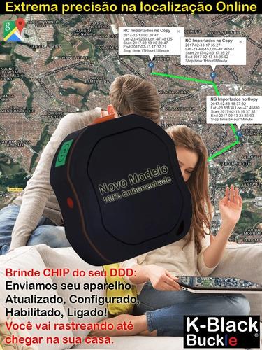 rastreador veicular pessoal segurança bateria longa black