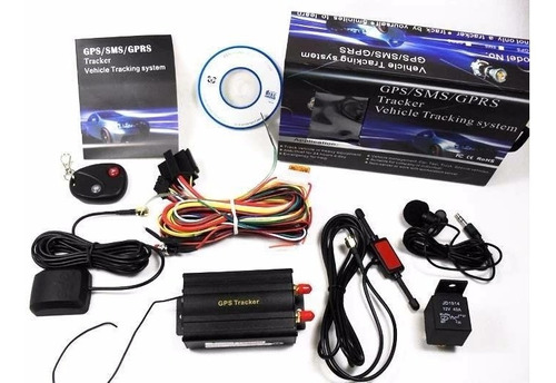 rastreador veicular tk103b moto,carro kit completo na caixa