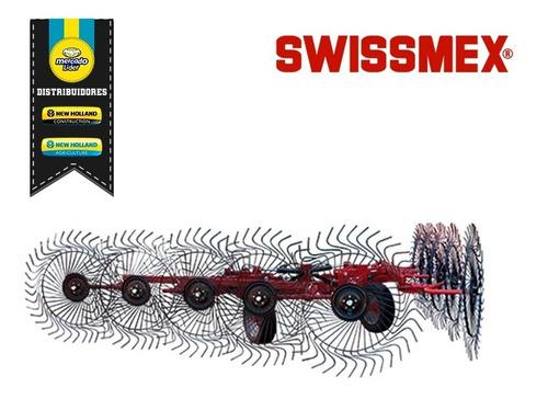 rastrillo cosechadora agrícola de 10 aros swissmex