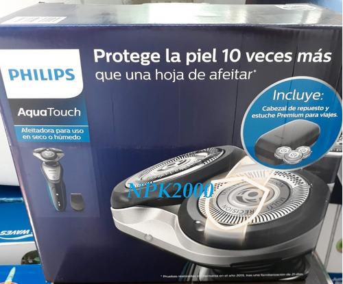 rasuradora phillips aquatouch + recortador + cabezal gratis