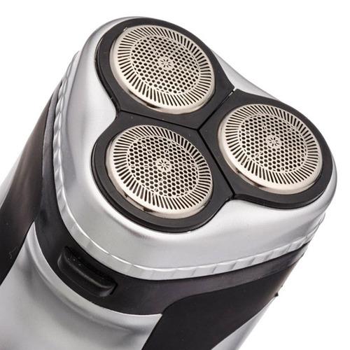rasuradora recargable 3 cabezas flotantes, trimmer bsk-9000