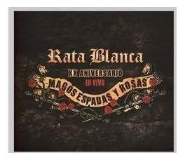 rata blanca xx aniv magos espadas y rosas - en vivo cd nuevo