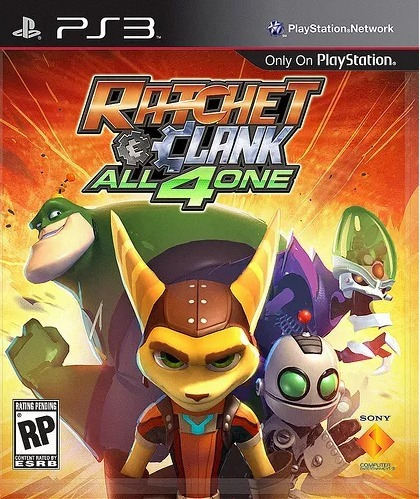 ratchet clank all 4 one ps3+manual+envio gratis