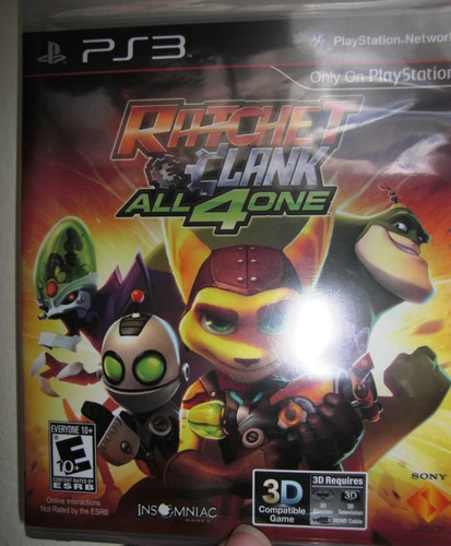 ratchet clank all4one ps3 original físico nuevo /20 vrds/