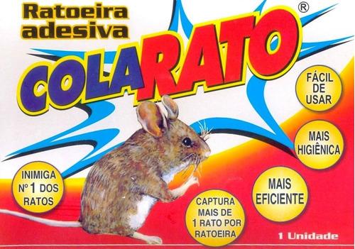 ratoeira adesiva cola rato - caixa 20 unidades
