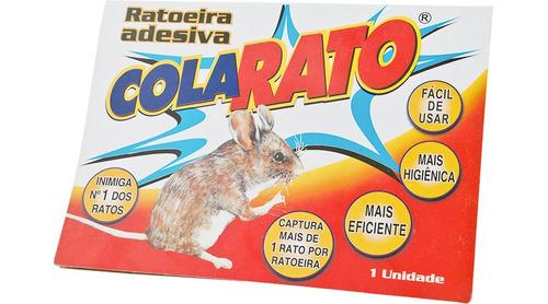 ratoeira adesiva cola visgo pega rato caixa c/ 20 unidades