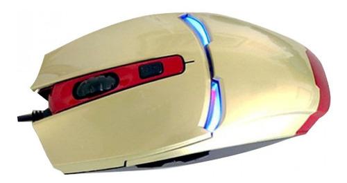 raton mouse optico para juegos variados colores ironman