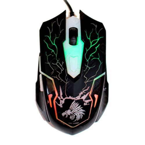 raton mouse pc usb eagle warrior g16  iluminado 2400 dpi