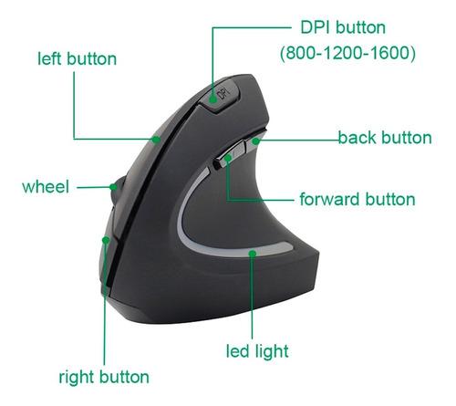 raton vertical ergonomico recargable inalambrico 2.4g