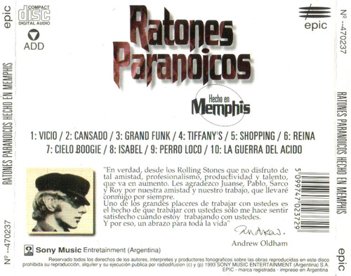 ratones paranoicos hecho en memphis - los chiquibum