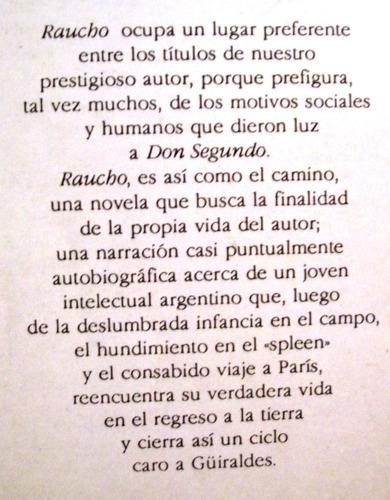 raucho ricardo güiraldes crónica literatura argentina
