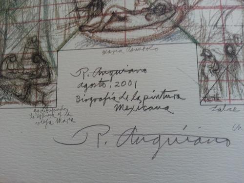 raul anguiano (1915-2006) bosquejo mural