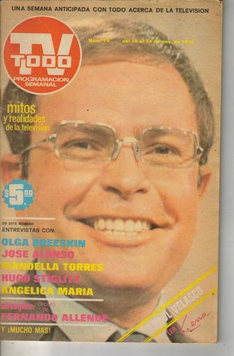 raul velasco en portada de revista todo tv del año 1976