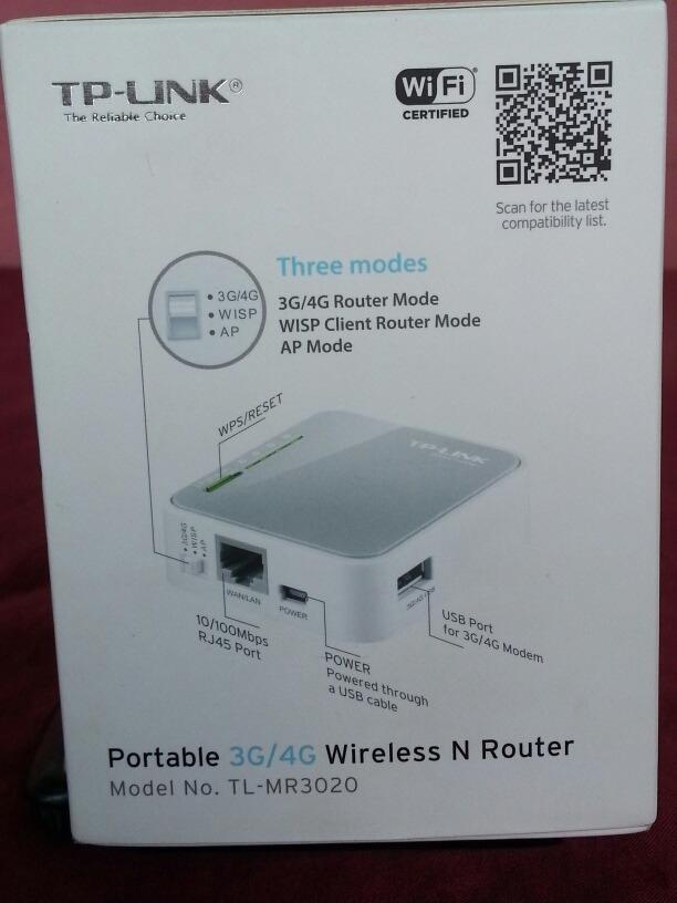 Rauter Portatil Tp-link 3g/4g Tl-mr3020
