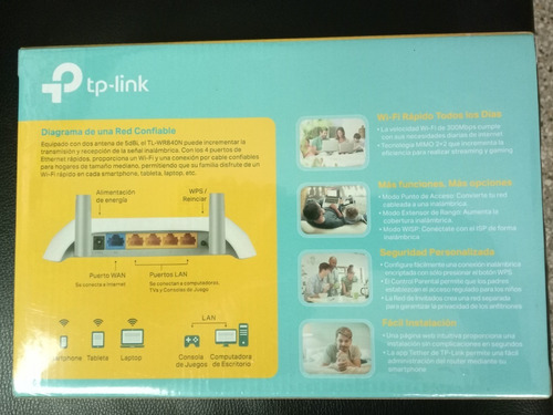 rauter tplink wr-841nd 300 mbps 100% nuevos 1 año de garanti