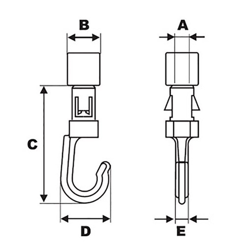 ravenox shock cord hook open | kayak bungee cord kit | heavy