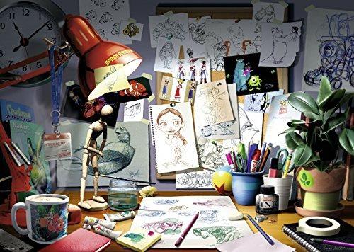 ravensburger disney pixar rompecabezas escritorio del artis
