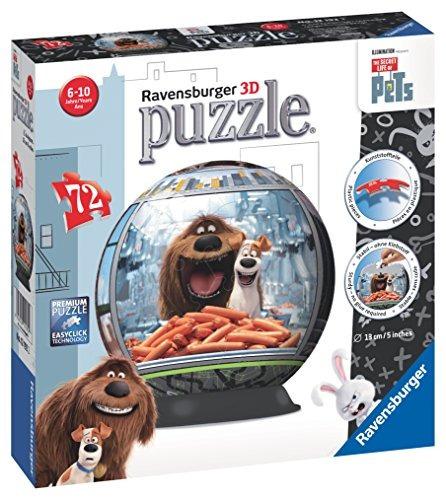 ravensburger la vida secreta de las mascotas 3d ball puzzle