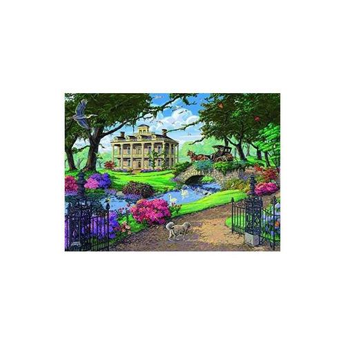 ravensburger visitando la mansión jigsaw puzzle (500 piezas)