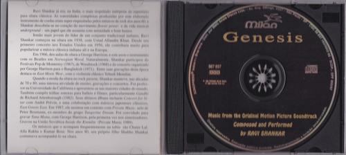 ravi shankar - cd genesis - 1986 - seminovo