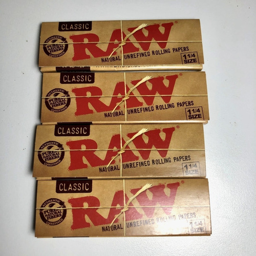 raw classic natural 1¼ papel para liar 4-pack