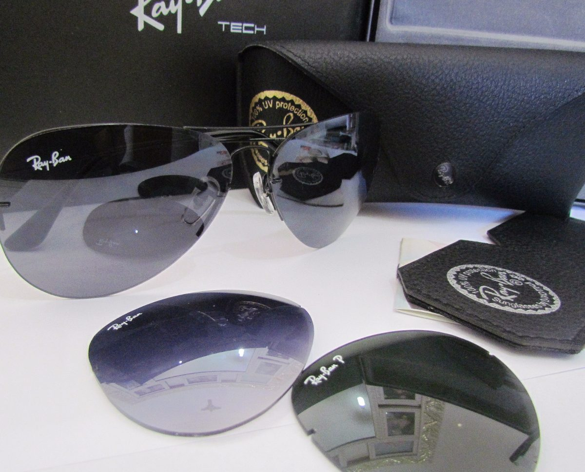 Ray Ban 3 Lentes Polarizado Flip Out Aviador Cert. Original - R  259 ... 98d7b60aeb