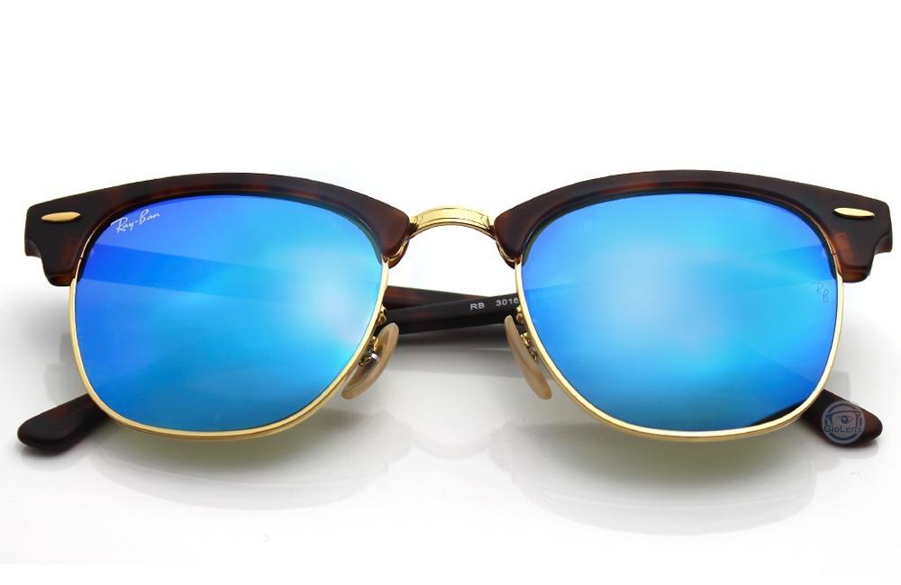 Ray Ban 3016 1145 17 Clubmaster Havana Grey Mirror Blue -   2,790.00 ... 41a8295bd20a