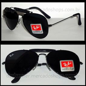 16ceffd70 Óculos De Sol Ray Ban Aviador 3422 Com Couro Craft Caçador - Óculos ...