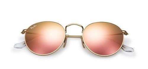 3cf04c655 ... canada ray ban 3447 round metal espelhado rosa original brinde 0a8b3  c9df3