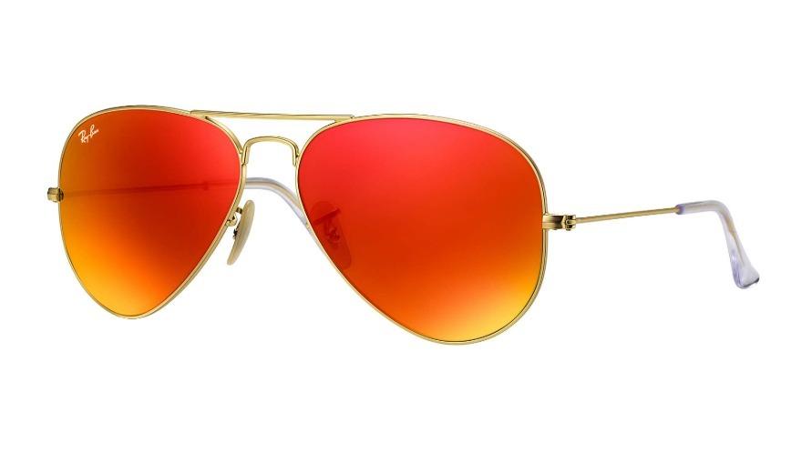 efb1afd6c0 Cargando zoom... anteojos de sol ray ban aviador naranja espejado aviator