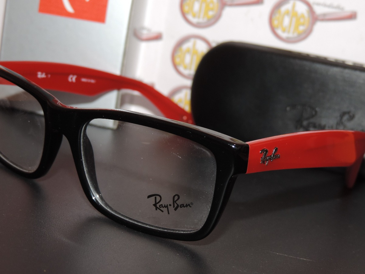 ray ban armação oculos. Carregando zoom... armação oculos grau rb5216 wayfarer  preto b89e6037d4