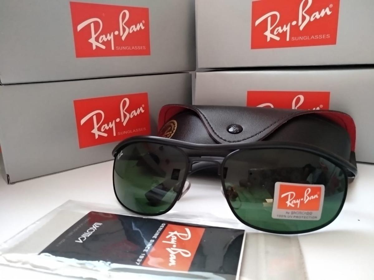 b8fd2f18706b4 ray ban armação preta 8012 lente verde cristal. Carregando zoom.