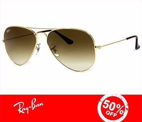 9bcaa4765 Ray Ban Aviador 3025 3026 Dourado C Marrom Degrade Original - R$ 221 ...