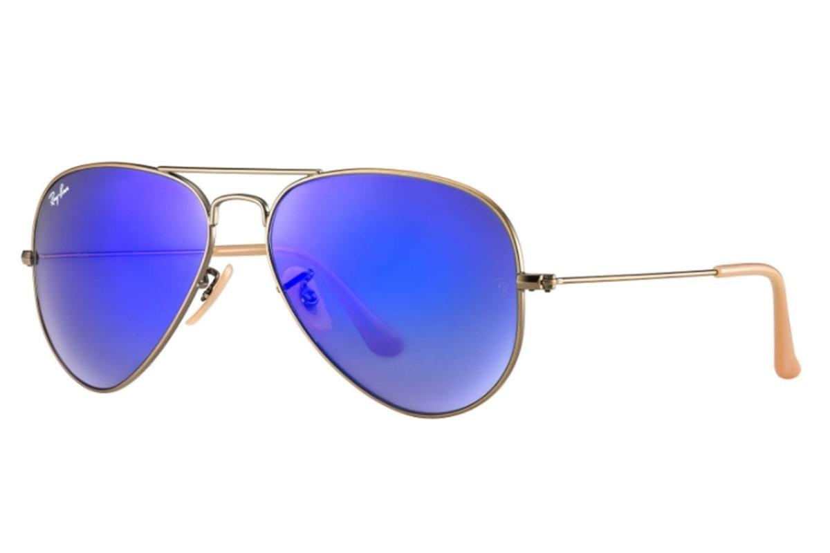 Ray Ban Aviador 3025 Azul Espejado Originales Made In Italy ...