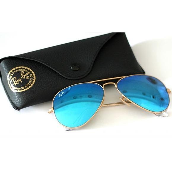 Ray Ban Aviador 3025 Espejado Azul Originales. Italianos - $ 1.899 ...