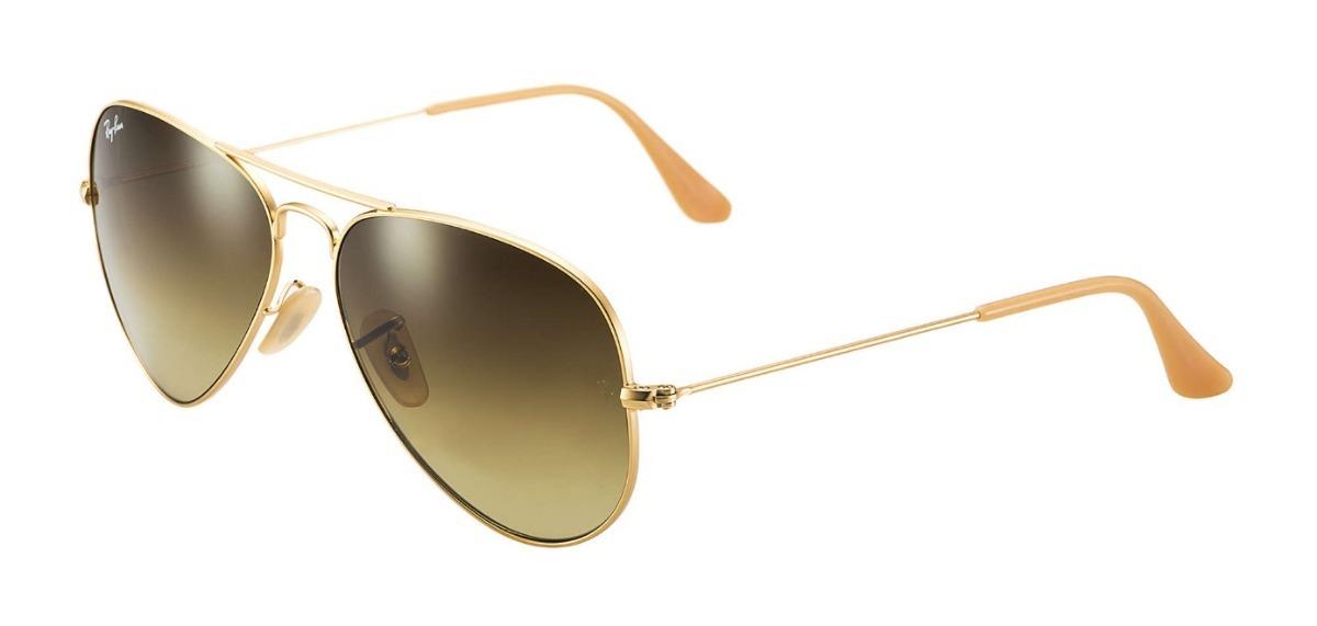 eb1787057a9b5 ray ban aviador 3026 g dourado com marrom degrade original. Carregando zoom.