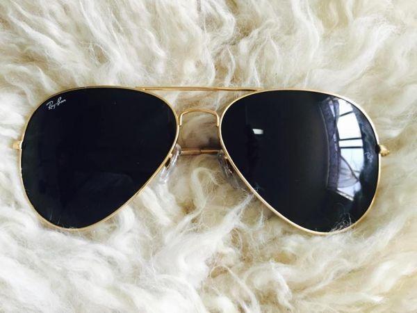 8579d5157 Ray Ban Aviador 3026 G Dourado Com Preto Original + Brinde - R$ 221 ...