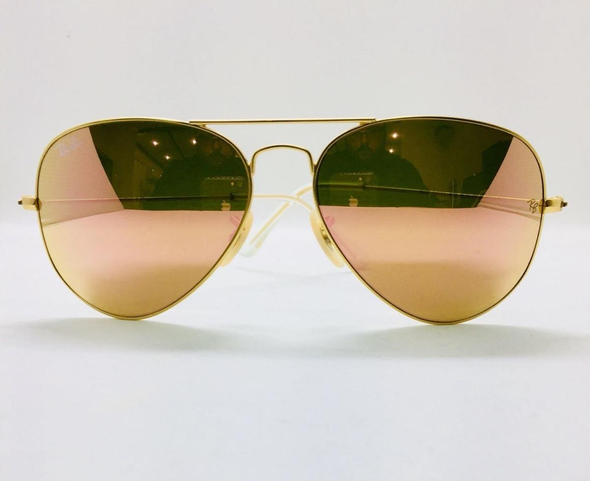 0c8c746d3 Ray Ban Aviador 3026 G Dourado Com Rosa Original + Brinde - R$ 221 ...