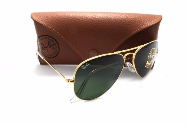 a23ccb264e221 Ray Ban Aviador 3026 G Dourado Com Verde G15 Original - R  221