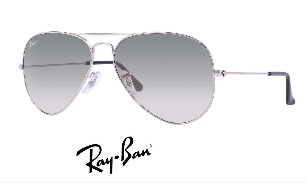 ray ban aviador 3026 g prata com preto degrade original. Carregando zoom. 04797fb506
