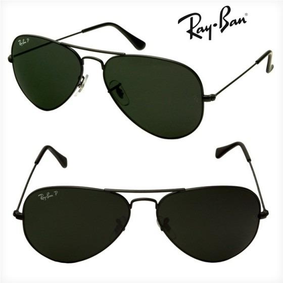 1d3826753 Ray Ban Aviador 3026 G Preto Com Verde G15 Original + Brinde - R ...