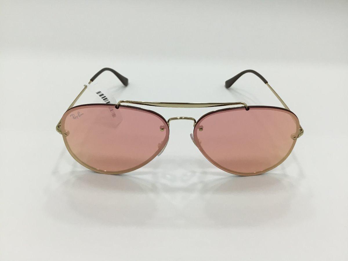 b06b14e55eb23 Ray Ban Aviador Blaze Rose Semi Espelhado - R  609,00 em Mercado Livre