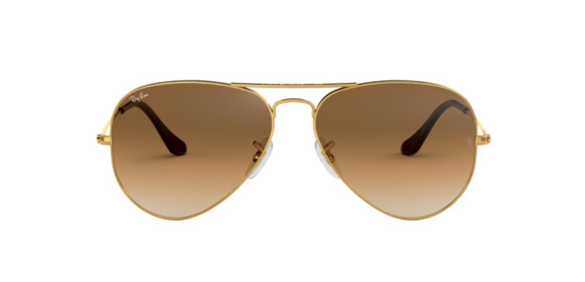 b52abe91b1 ray-ban aviador clásico rb3025-001/51 cafe lentes de sol. Cargando zoom.