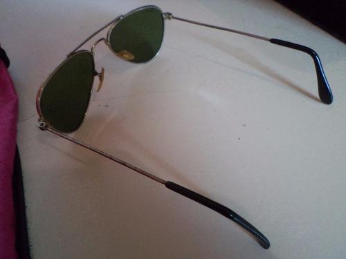 ray ban aviador decada 70 pequeno lentes cristal