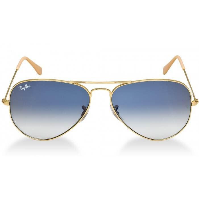 1269b65247b17 Ray-ban Aviador Dourado Lente Safira Azul Degradê Original - R  300 ...