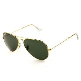 ade849616 Óculos Ray Ban Rb 3026 Aviador Dourado Lente Verde (g15) - Óculos De ...