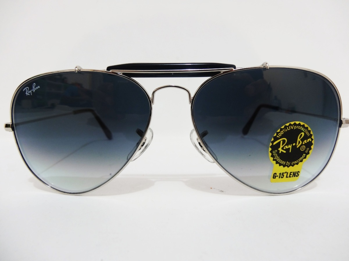 3e96f878c60 Ray Ban Aviador Outdoorsman Il Rb3407 003 32 Gris Degradado ...