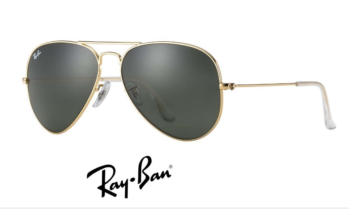 20819d0655c48 ray-ban aviador rb3025 dourado com preto frete grátis. Carregando zoom.