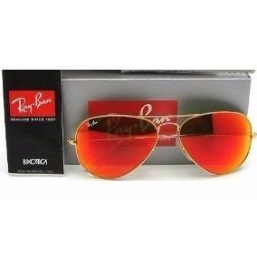 Ray Ban Aviador Rb3025 Vermelho Espelhado Original Feminino - R  267 ... d0172b5876