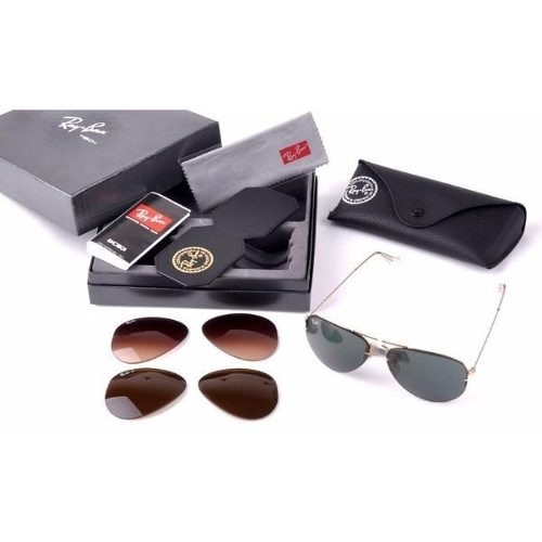 da8531895ce90 Ray Ban Aviador Tech Flip Out Rb3460 Troca Lentes Original - R  270 ...